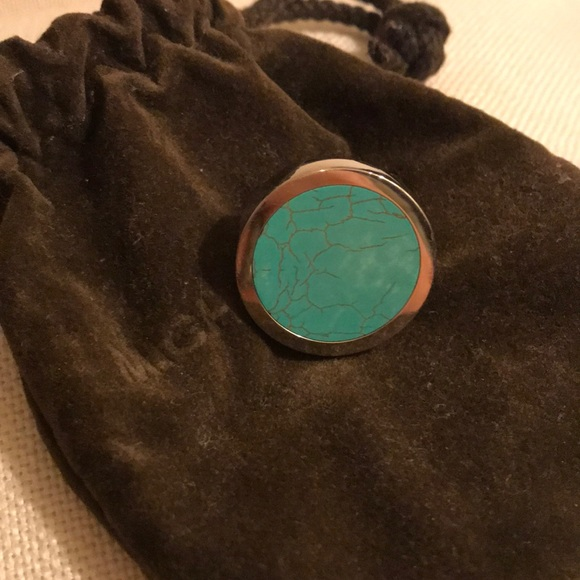 8ab400151 44% off Michael Kors Jewelry Silver Tone Turquoise Round Ring | Poshmark